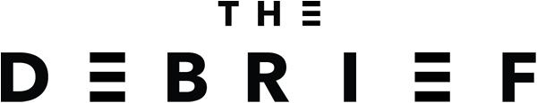 The debrief logo